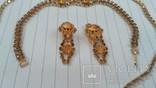 Комплект:Колье,браслет,клипсы.Чехословакия., фото №5