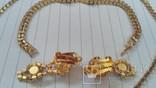 Комплект:Колье,браслет,клипсы.Чехословакия., фото №8