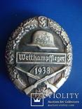 """Нагрудный знак организации"""" Стальной шлем"""" 1938г. КОПИЯ, фото №2"""