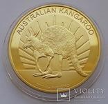 Австралия. Австралийский кенгуру. 100 долларов 2011 г. (Копия), фото №2