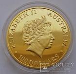 Австралия. Австралийский кенгуру. 100 долларов 2011 г. (Копия), фото №3