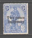 Брит колонии. Мальта. 1925. Надпечатка *., фото №2