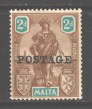 Брит колонии. Мальта. 1926. Мелита, надпечатка, 2 п. *., фото №2