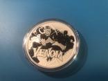 Venom монета Тувалу из серии Марвел, фото №2