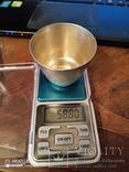 6 серебряных стопок проба 875, фото №2