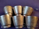 6 серебряных стопок проба 875, фото №6