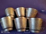 6 серебряных стопок проба 875, фото №7