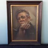Портрет мужчины 60х77см., подпись автора., фото №2