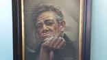 Портрет мужчины 60х77см., подпись автора., фото №3