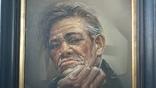 Портрет мужчины 60х77см., подпись автора., фото №5