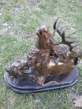 Охота на оленя.  Бронза., фото №7