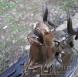 Охота на оленя.  Бронза., фото №8