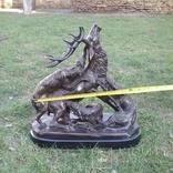 Охота на оленя.  Бронза., фото №12