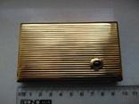 Візитниця чи портсигар. Золото 583 та сапфір, фото №2