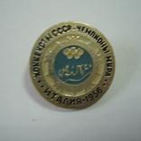 Значок СССР.  Хоккеисты СССР. Италия 1956, фото №3