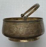Конфетница №2 периода Царской России. Серебро 84 пробы., фото №5