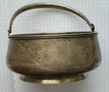 Конфетница №2 периода Царской России. Серебро 84 пробы., фото №6