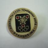 Значок СССР.  Хоккеисты СССР. Франция1968, фото №5