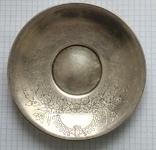 Блюдце периода Царской России, 84 проба, Милюковъ., фото №7