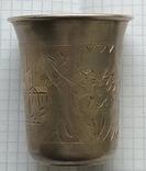 Большой стаканчик периода Царской России, 84 пробы, фото №5