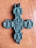 """Крест-энколпион """"Распятие Христово. Архангел  Сихаил"""" 14-15 век, фото №3"""
