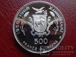 500 франков 1970  Гвинея  серебро   (1.4.6)~, фото №4