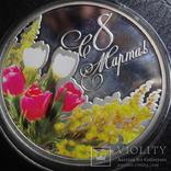 1  доллар 2012  Ниуэ 8  марта  серебро, фото №2
