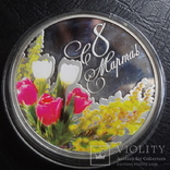 1  доллар 2012  Ниуэ 8  марта  серебро, фото №3
