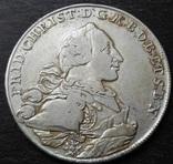 1 талер 1766 год, Бранденбург-Байройт, фото №2
