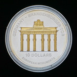10 Долларов 2004 Бранденбургские Ворота, Науру Унция, фото №2