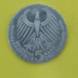 Німеччина 5 марок, 1975 50-та річниця - Смерть Фрідріха Еберта, фото №3
