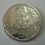 Новая Зеландия 20 пенсов 2008 года., фото №2