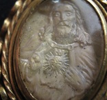 Иконка Святейшее Сердце Иисуса Инталия на Хрустале в Золоте 15-16 век, фото №7