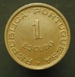 Португальский Мозамбик 1 эшкудо 1963 aUnc, фото №3