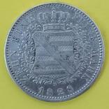 Монета Саксония 1 талер Серебро 1828р., фото №2