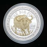10 Долларов 2001 Буйвол / Большая Африканская Пятерка Сафари, Сьерра Леоне Позолота