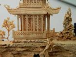 Пано - діорама китайська мініатюра, ручна робота ( коркове дерево ), фото №8