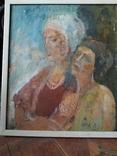 """""""Изгнание.."""" к.м. 44х38 см.,1982г.,Лариса Жданова, фото №13"""