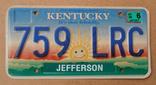 Номерной знак США, штат Кентукки, фото №2