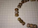 Золотистые античные бусы., фото №3