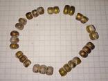Золотистые античные бусы., фото №7