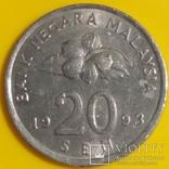 Малайзія 20 сенів, 1993