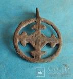 Подвеска крестовключенная КР 12-13 век., фото №3