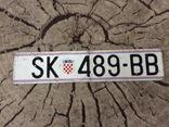 Номерной знак автомобильный номер ХОРВАТИЯ, фото №2