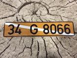 Номерной знак автомобильный номер ТУРЦИЯ, фото №2