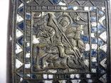 Часть складня Чудо Георгия о змие. 11 Х 8,5см, фото №6