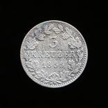 3 Крейцера 1855, Бавария, фото №2