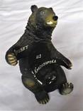 """Подставка под бутылку """"Русский медведь"""" Гипс, фото №5"""