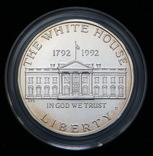 1 Доллар 1992 Белый Дом (Серебро 0.900, 26.73г), США, фото №3