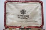 """Золотая брошь 56 проба.,"""" КФ"""" с природными алмазами,рубинами и кораллом, фото №3"""